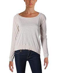 Three Dots - Slub Jersey Off Shoulder Sweatshirt - Lyst