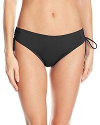 Calvin Klein - Solid Full Side Shirred Hipster Bikini Bottom - Lyst