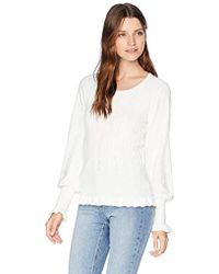 Parker - Henri Long Sleeve Ribbed Sweater - Lyst