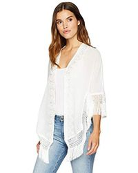 Laundry by Shelli Segal - Sheer Kimono W/lace - Lyst