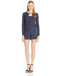 BCBGeneration - Printed Cut-out Romper - Lyst