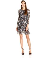 Twelfth Street Cynthia Vincent - Smocked Dress With Flounce - Lyst