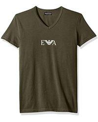 Emporio Armani - Stretch Cotton Multipack Vneck T-shirt - Lyst
