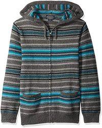 14cb2f1908d8 Pendleton - Serape Stripe Hooded Sweater (blue grey Stripe) Men s Sweater -  Lyst