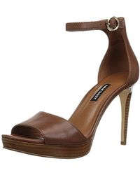 Nine West - Querrey Leather Heeled Sandal - Lyst
