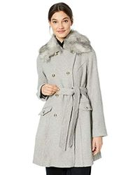Jessica Simpson - Double Breasted Wool Fashion Coat - Lyst