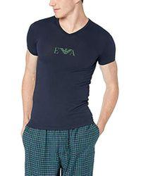 Emporio Armani - Stretch Cotton Multipack Vneck T-shirt, - Lyst