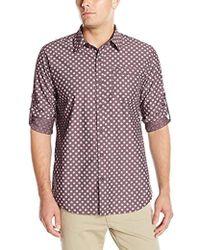 Geoffrey Beene - Printed Sharkskin Woven Shirt - Lyst