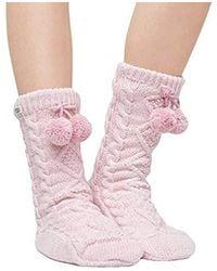 UGG - Pom Fleece Lined Crew Sock - Lyst