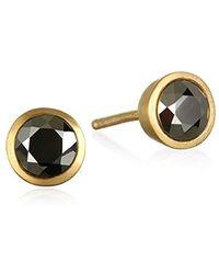 Satya Jewelry - Gold Plate Stud Earrings - Lyst