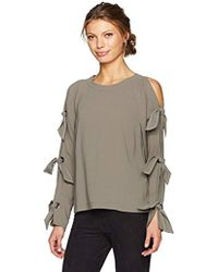 6fcee9fea18515 BCBGMAXAZRIA - Haydin Woven Top With Strappy Sleeve Ties - Lyst