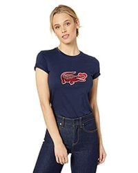 Lacoste - S/s Valentines Day Croc Tee Shirt - Lyst