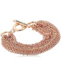 Kenneth Cole - Multi Chain Bracelet, Blush, One Size - Lyst