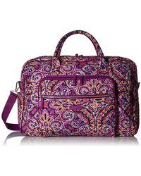 Vera Bradley - Iconic Grand Weekender Travel Bag (denim Navy) Weekender/overnight Luggage - Lyst