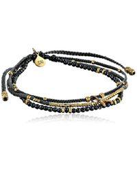 Tai - Multi-strand Beaded Wishbone Charm Bracelet, 2.5 - Lyst