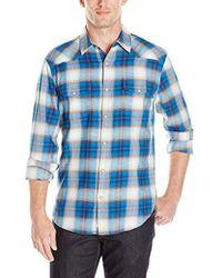 Lucky Brand - Santa Fe Western Shirt In Blue Ombre - Lyst