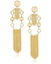 Rachel Zoe - Remy Fringe Statement Drop Earrings - Lyst