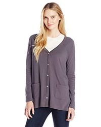 Lilla P - Classic Long Sleeve Swing Cardigan - Lyst