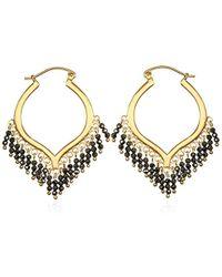 Satya Jewelry - Gold Plate Chandelier Hoop Earrings - Lyst