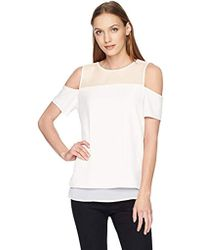 Calvin Klein - Short Sleeve Cold Shoulder - Lyst