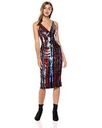 Dress the Population - Margo Sleeveless Sequin Stretch Midi - Lyst
