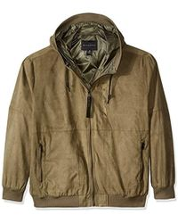 Sean John - Big And Tall Suede Leather Hoodie - Lyst