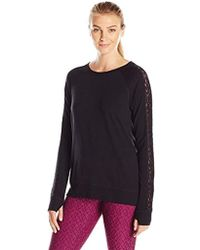 Nanette Lepore - Play Tri Blend French Terry Lacey Sweatshirt - Lyst