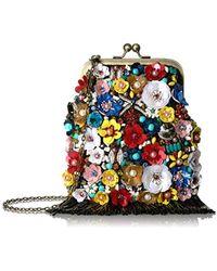 Mary Frances - Party Time Embellished Crossbody Clutch Handbag - Lyst