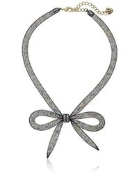 """Betsey Johnson - """"memoirs Of Betsey"""" Mesh Bow Necklace, 16"""" + 3"""" Extender - Lyst"""