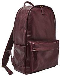 Fossil - Buckner Backpack, Black Cherry, One Size - Lyst