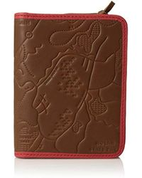 Fossil - Leather Passport Case - Lyst