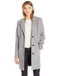 Calvin Klein - Boucle 3 Button Wool With Pu Trim Pocket Detail - Lyst