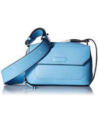 Calvin Klein - Karsyn Nappa Leather Belted Crossbody - Lyst