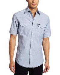 99baabd394f Lyst - Wrangler Authentic Cowboy Cut Work Western Long-sleeve Shirt ...