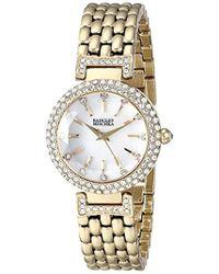 e962ee521f1 Badgley Mischka - Goldtone Round Crystal Timepiece - Lyst