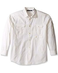 Sean John - Big And Tall Long Sleeve Flight Linen Shirt - Lyst