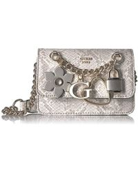 Guess - Hadley Python Mini Crossbody Flap - Lyst