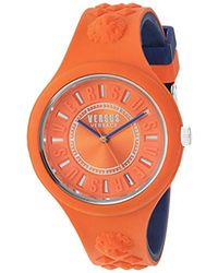 Versus - 'fire Island Bicolor' Quartz Stainless Steel And Silicone Watch, Color:two Tone (model: Vspoq2518) - Lyst