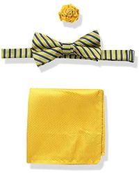 U.S. POLO ASSN. - Striped Bow Tie, Pocket Square And Lapel Pin Set - Lyst