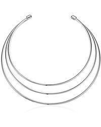Guess - Ir Metal Choker Necklace, Silver - Lyst