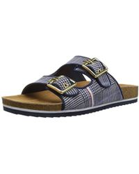 e143294a816 Lyst - Tommy Hilfiger Rayce Wedge Sandals in Blue