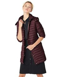 Kenneth Cole - Thigh Length Zip Puffer Jacket With Hood - Lyst