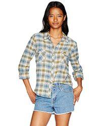 Volcom - Tru Flame Long Sleeve Vintage Flannel Top - Lyst