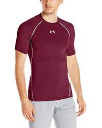 baf058794 Under Armour Heatgear Armour T-shirt in Blue for Men - Lyst