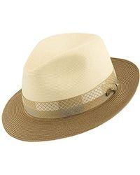 5de27d7381b Lyst - Stetson Andover Florenine Milan Straw Hat in Gray for Men ...