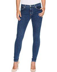 Hudson Jeans - Nico Midrise Super Skinny Stonewash Jeans - Lyst