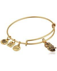 ALEX AND ANI - Charity Design Ode To The Owl Bangle Bracelet - Lyst