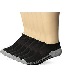Skechers - 6 Pack Half Terry Socks, Black, Sock Size: 10-13/shoe Size:9-11 - Lyst
