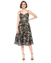 7f70f3aa Dress the Population - Molly Sleeveless Sequin Lace Fit & Flare Midi Dress  - Lyst