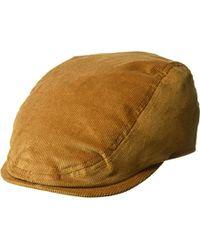 56e9c6cf91d Lyst - Kangol Cord Flat Cap in Natural for Men